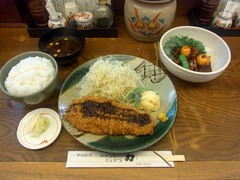 20140909甲府/力/とんかつ定食+鳥もつ煮セット1450円.jpg
