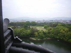 岡山城天守閣からの眺望