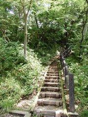 久保田城階段鐘楼付近.jpg