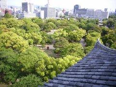 広島城天守閣からの眺望