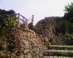中城城・二の郭へ昇る階段