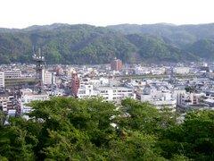 津山城・天守台からの眺望