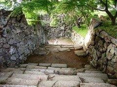 津山城・裏鉄門への階段
