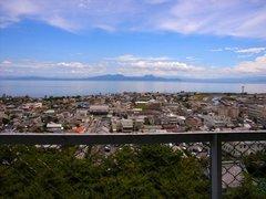 島原城天守閣からの眺望