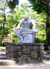 島原城銅像