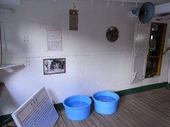 日本丸・凹甲板・洗濯桶