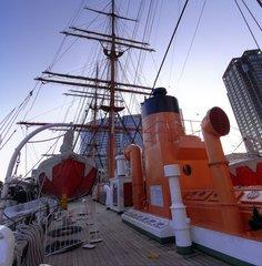 日本丸・長船尾楼甲板