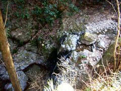 八王子城御主殿の滝
