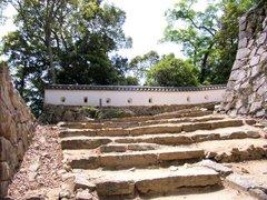 備中松山城三ノ丸への階段