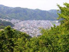 備中松山城登山道からの眺望