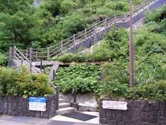 宇奈月ダム・見学施設への階段.jpg