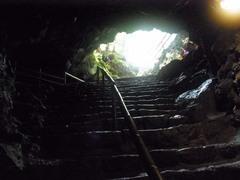 富岳風穴・内側から入口を見る.jpg