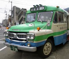 祖谷観光・ボンネットバス到着.jpg