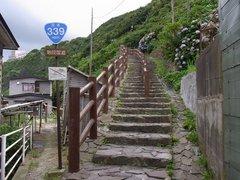 竜飛岬・階段国道・下端.jpg