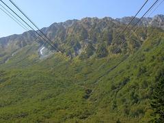 黒部平駅から大観峰駅を見上げる.jpg
