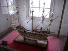 旧三菱第2ドックハウス内帆船模型