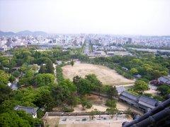 姫路城・天守閣より姫路駅方向