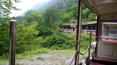 トロッコ列車・出六峰付近屋根に守られた線路.jpg