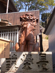 金刀比羅宮・備前焼の狛犬.jpg