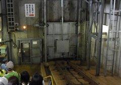 青函トンネル記念館・斜坑シャッター.jpg